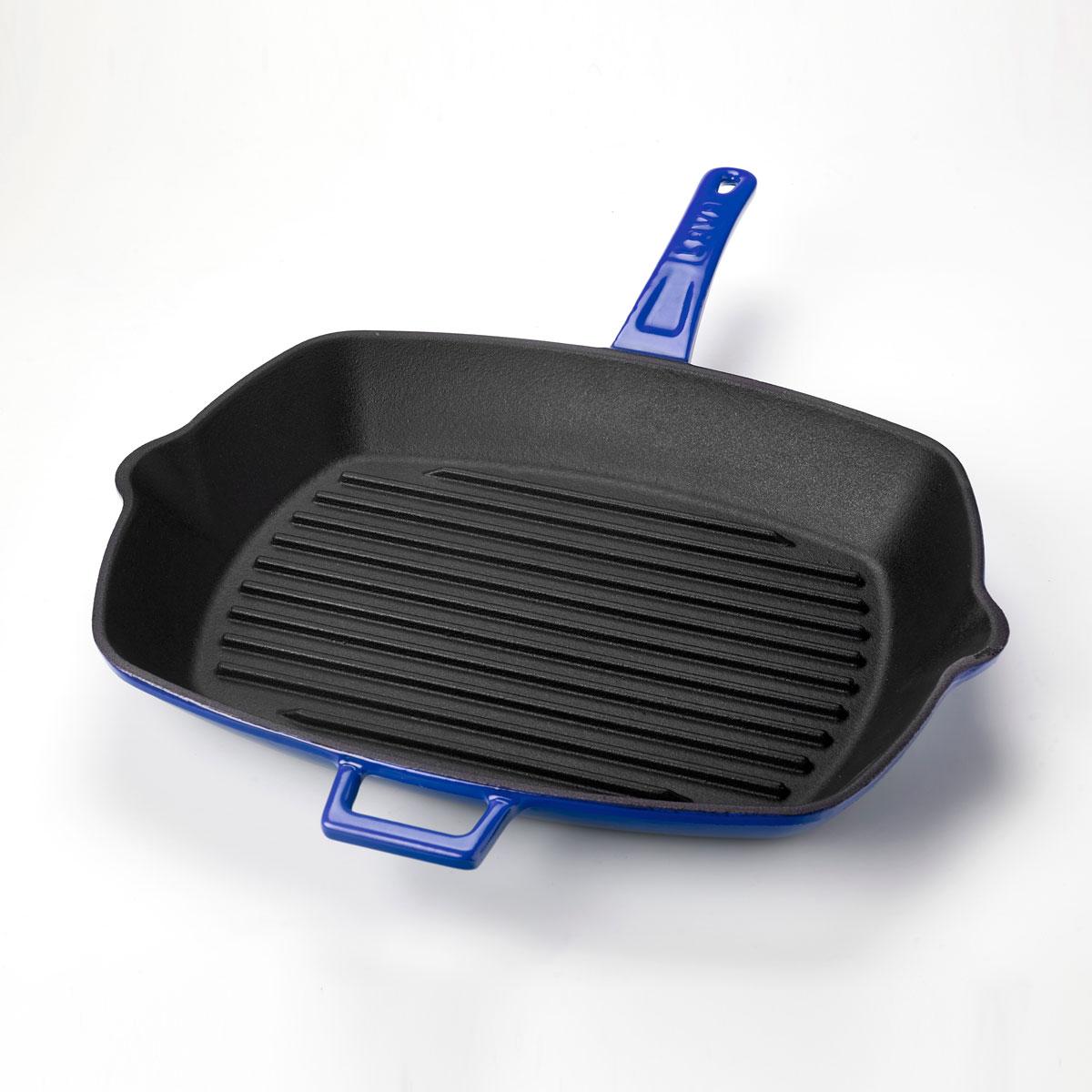 LAVA Cookware Po/êle de Service en Fonte /émaill/ée avec poign/ée m/étallique int/égr/ée Rouge Diam/ètre 20 cm
